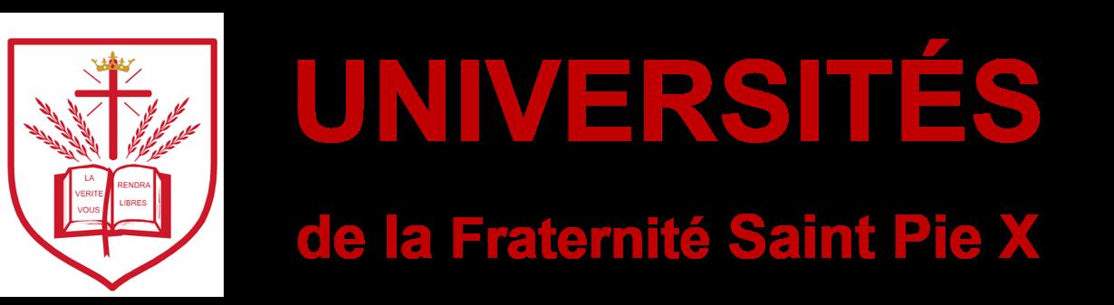 UNIVERSITÉS DE LA FSSPX